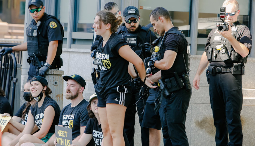 Dozens of Climate Change Agitators Arrested After Storming White House, Blocking Entrances