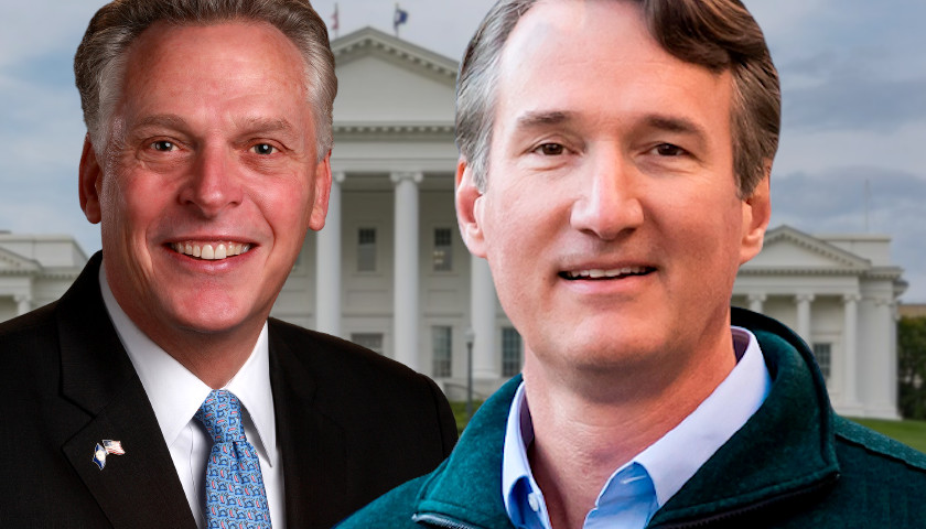 Poll Shows McAuliffe and Youngkin Race for Virginia Governor Virtually Tied, Within the Margin of Error
