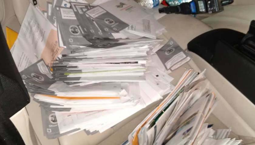 Police in California Find 300 Recall Ballots in Passed Out Felon's Car