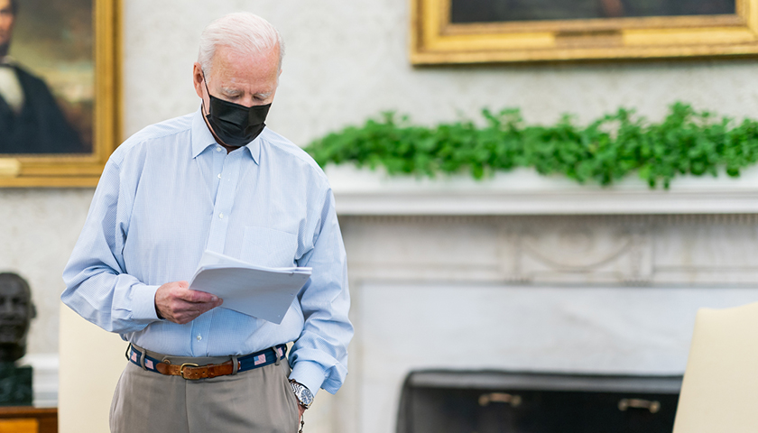 Biden's Average Approval Falls Below 50 Percent for the First Time as President