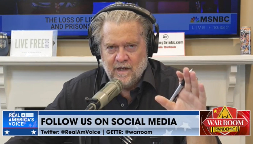Steve Bannon: Former President Trump's 'Got to Be Putting Together More of a Formal Body. . . A Shadow Government' to Keep Biden 'From Destroying the Country'