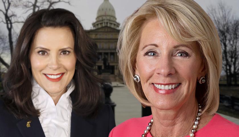 Betsy DeVos Declines to Run for Michigan Governor, Blasts Gretchen Whitmer