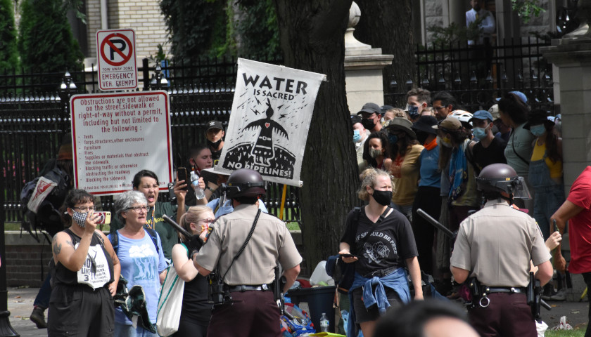 Stop Line 3 Protesters in Minnesota Unlawfully Gathered Outside of Governor's Mansion