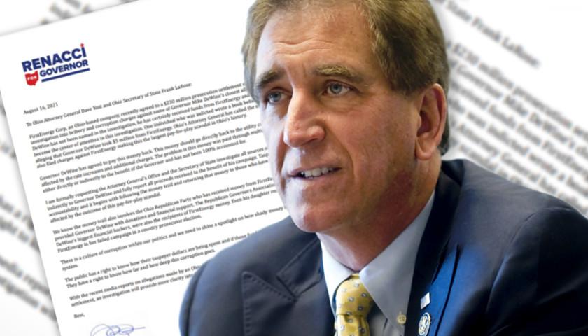 Renacci Asks Ohio Attorney General, Secretary of State to Investigate Sources of DeWine Campaign Cash