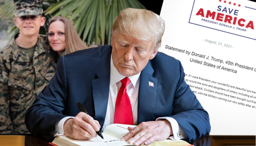 Trump Issues Statement Supporting Mother of Fallen U.S. Marine Who Criticized Biden for Response and Disrespect at  Ceremony Receiving Bodies of Service Members Killed in Terrorist Attack