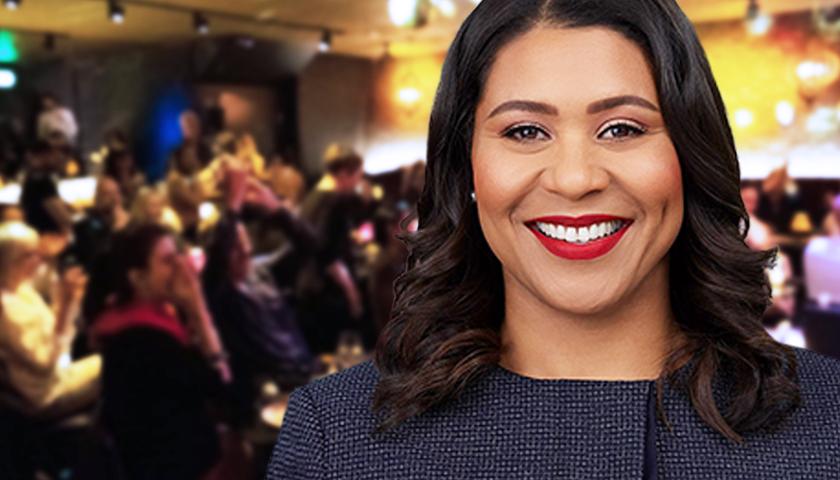 Mayor of San Francisco Goes to Nightclub Maskless, Breaks Her Own Mandate