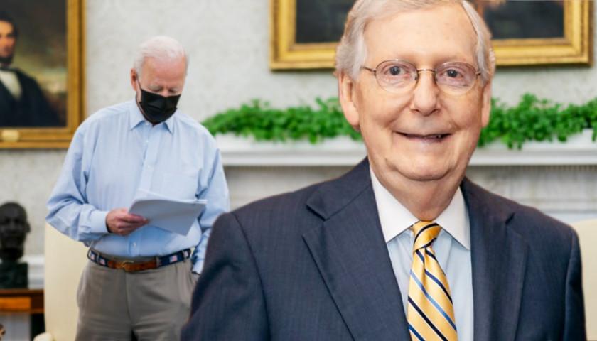 Senate Minority Leader Mitch McConnell Says Biden Won't Be Impeached