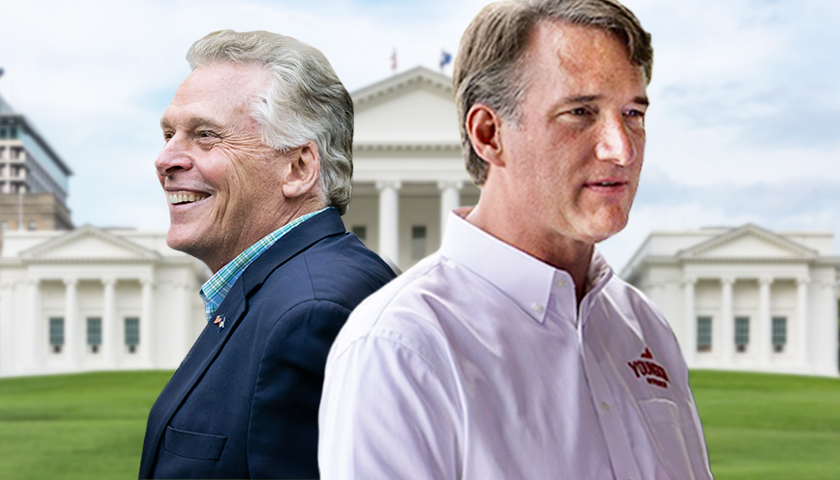 Poll: Youngkin Now Tied with McAuliffe in Virginia Governor Race