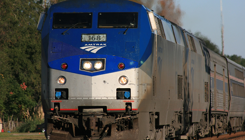 Amtrak 168 leading the Silver Meteor through Folkston, GA in November of 2008.
